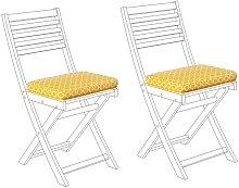 Beliani - Conjunto de 2 cojines amarillos para las