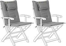 Beliani - Conjunto de 2 cojines para silla de