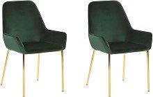 Beliani - Conjunto de 2 sillas de comedor de