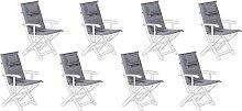 Beliani - Conjunto de 8 cojines para la silla de