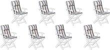 Beliani - Conjunto de 8 cojines para silla de