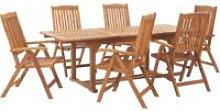 Beliani - Conjunto de jardín de madera de acacia