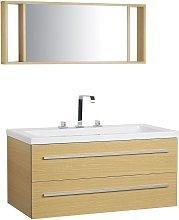 Beliani - Conjunto de muebles de baño beige