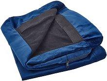 Beliani - Funda de sillón de terciopelo azul