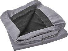 Beliani - Funda de sillón de terciopelo gris