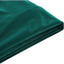 Beliani - Funda de terciopelo verde oscuro para