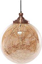Beliani - Lámpara de techo vidrio/cobre BENI L