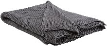 Beliani - Manta color oscuro 130x180 cm ASAKA