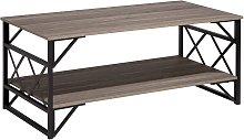 Beliani - Mesa de centro de madera gris pardo