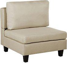 Beliani - Módulo de sillón tapizado beige FEVIK
