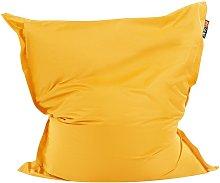 Beliani - Puf cojín 140x180 cm color amarillo
