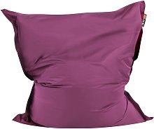 Beliani - Puf cojín 140x180 cm color púrpura