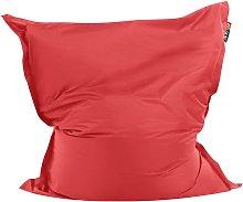 Beliani - Puf cojín 140x180 cm color rojo