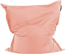 Beliani - Puf cojín 140x180 cm color rosa claro