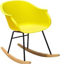 Beliani - Silla mecedora color amarillo HARMONY