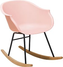 Beliani - Silla mecedora color rosa HARMONY