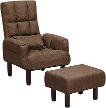 Beliani - Sillón reclinable marrón con