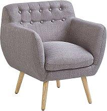 Beliani - Sillón tapizado gris MELBY