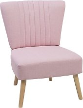 Beliani - Sillón tapizado rosa VAASA