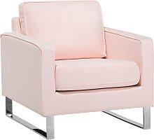 Beliani - Sillón tapizado rosa VIND