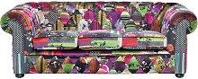 Beliani - Sofá 3 plazas tapizado multicolor