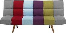Beliani - Sofá cama 3 plazas tapizado multicolor