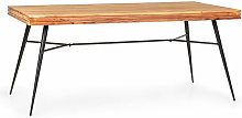 Besoa - Vantor Mesa de comedor de madera de acacia