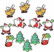 BESTOMZ 12pcs Serie de Navidad imanes de Nevera