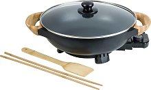 Bestron Sartén de wok eléctrica AEW100AS negra
