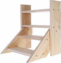 BESTSOON Estante de 4 niveles de madera para