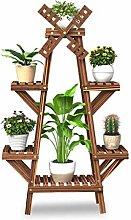 BESTSOON Soporte de madera para plantas en forma