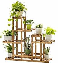 BESTSOON Soporte para plantas de madera de pino,