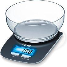 Beurer Balanza de cocina KS25 3 kg negra 704.15