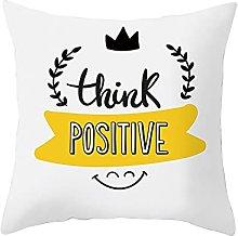 Beydodo Funda de Almohada,Think Positive,Cojin y