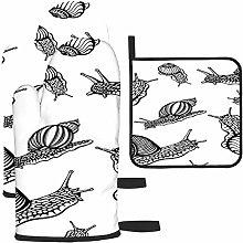 Bgejkos Caracoles de tinta y blanco para