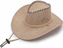 BGSFF Sombrero de Vaquero de Lino de Verano,