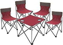 BIANGEY Mesa de Camping y sillas Plegables, Mesa