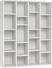 Biblioteca moderna en madera blanca RYTHM