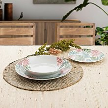 Bidasoa - Vajilla porcelana sumatra 18 piezas