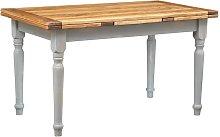 Biscottini - Mesa extensible en madera maciza de