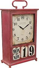 Biscottini - Reloj de sobremesa de hierro con