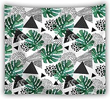 BKYHF Tapiz 3D Hojas Verdes Tapiz Planta Tropical