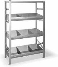 Blitzonline - Estantería metálica con 4 estantes