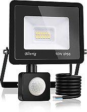 Blivrig Foco LED Exterior,10W Foco LED con Sensor