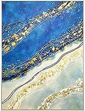 BLLXMX Carteles de Lienzo Arte Abstracto Dorado