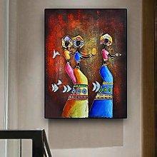 BLLXMX Pintura al óleo Abstracta de Mujer