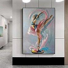 BLLXMX Pintura al óleo Abstracta sobre Lienzo,
