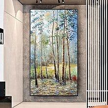 BLLXMX Pintura sobre Lienzo nórdico Abstracto