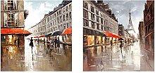 BLLXMX Pintura sobre Lienzo París Ciudad Calle