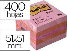 Bloc de notas adhesivas quita y pon post-it 51x51